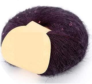 1Pc=50g Paillette Mohair Yarn for Crochet Sequin Yarn for Knitting Hand Mohair Threads Scarf Tippet Mohair Crochet Yarn,gao GUI zi