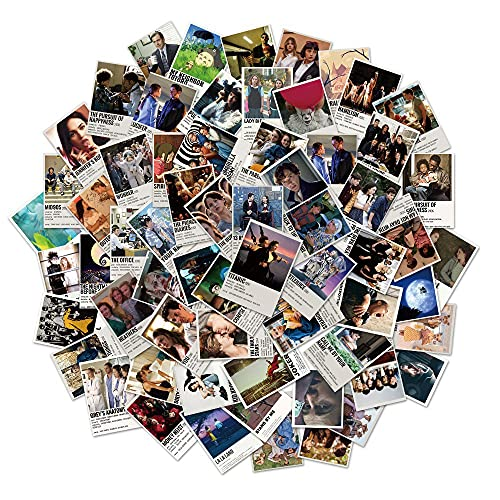 64 adesivi per la collezione di film e serie TV di tipo poster, adesivi per la collezione di laptop, frigorifero, valigia