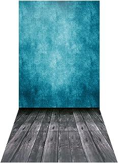 3M Backdrop,Andoer 1.5 * 3m/4.9 * 9.8ft Video Studio Photo Backdrop Background Digital Printed Blue Classic Wall Wooden Fl...