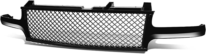 For Silverado/Tahoe/Suburban Badgeless Diamond Mesh Front Upper Bumper Grille Guard (Glossy Black) - GMT800 1500