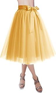 557714b7f5 DRESSTELLS Knee Length Tulle Skirt Tutu Skirt Evening Party Gown Prom  Formal Skirts