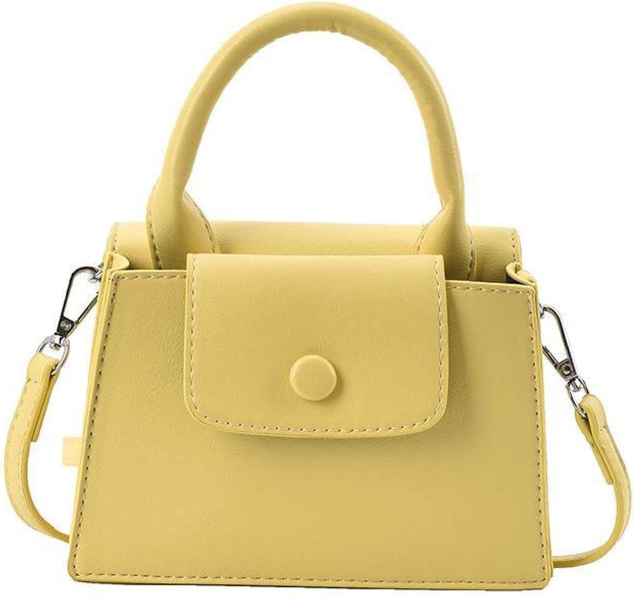 NC Simple Casual Solid Color Women's Bag 2021 Commuter one-Shoulder Bag Handbag Under The Bag Stiletto Bag Women's Summer (Yellow)