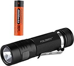 FOLOMOV EDC C4 (Flashlight Power Bank In One), 1200 Lumens,XP-L V6 Led, Switch-lock Guard Function, 2600mah Protected Battery Included,IPX-6 Waterproof