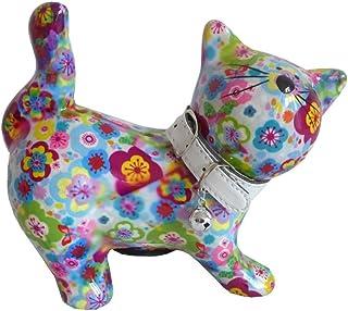 Skarbonka kot Kitty niebieska z kwiatami Pomme Pidou skarbonka prezent pieniężny