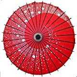 和傘 番傘紙傘 薄鬼桜 銀魂神楽コスプレにも 花吹雪 (赤)