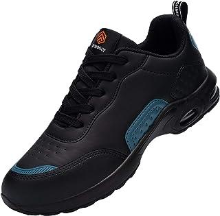 DYKHMILY Chaussure de Securite Femmes Legere Coussin d'air Basket de Sécurité Embout Acier Protection Confortable Respiran...