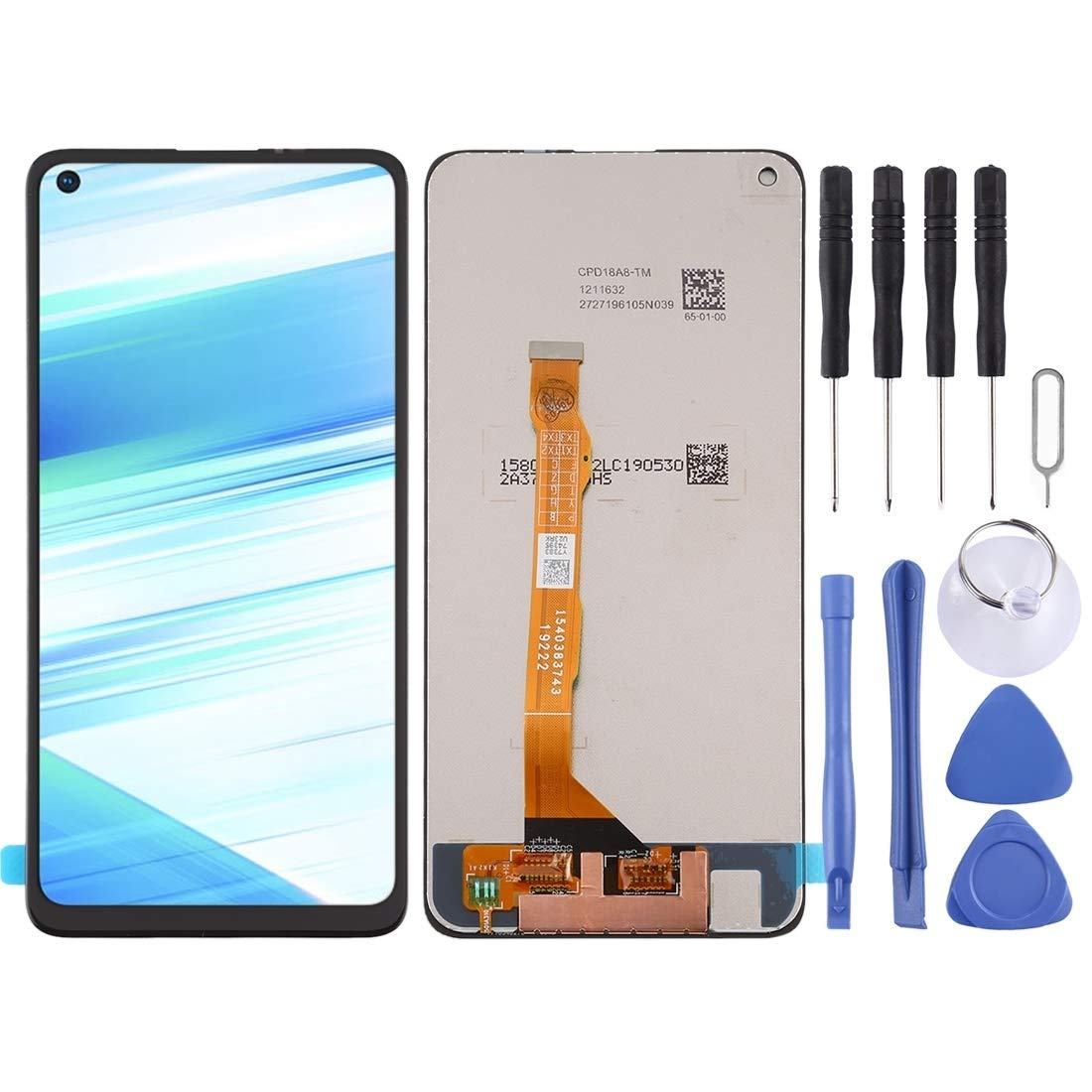 Black LIYUNSHU LCD Screen and Digitizer Full Assembly with Frame for Sony Xperia Z5 Color : Black