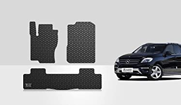 TOUGHPRO Floor Mat Accessories Set (Front Row + 2nd Row) Compatible with Mercedes-Benz ML350 - All Weather - Heavy Duty - (Made in USA) - Black Rubber - 2012, 2013, 2014, 2015