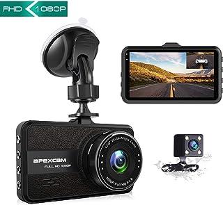 Apexcam Cámara de Coche Lente Doble Conducir grabadora 1080p FHD 170 ° Gran Angular 3 IPS Dash CAM G-Sensor WDR Visión Nocturna Grabación de Bucle Monitor de estacionamiento