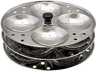 100% Stainless Steel Idli Stand | 3 Plates | 12 Idli Capacity | Raco Fine Quality | Idli Plates | Steamer | Sancha | Kitch...