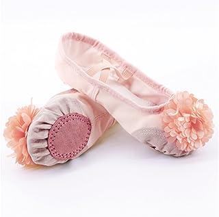 ZBYD Chaussures de Danse de Ballet Rose Filles Enfants Enfants Pantoufles de Ballet Soft Split Split Sole Sole Yoga Gymnas...
