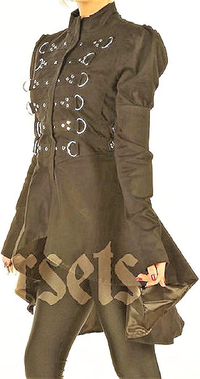 mart Black Gothic Steampunk Easy-to-use Coat Jacket