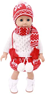 yeesport 18 Inch Doll Christmas Outfits Fashion Doll Sweater Girl Doll Winter Set Doll Winter Clothes 18 Inch Doll Costume...