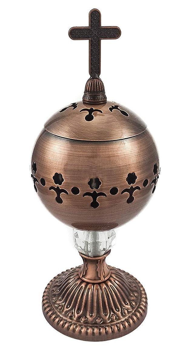 獲物見捨てる吸収手作りブロンズCenser Polished Brassエルサレム教会Incense Burner Distiller