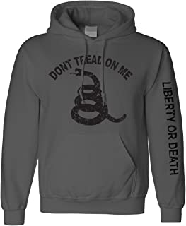 Charcoal Don't Tread On Me Longsleeve Hooded Sweatshirt