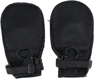 ポータブル1ペアセーフティコントロールグローブ、傷に強いケア介護用ネクタイグローブバインディング-グローブとグローブ医学的拘束患者のフィンガーコントロールミット、ハンドプロテクター感染安全装置