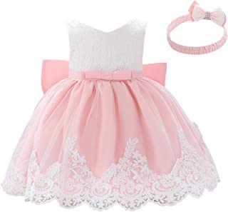 Child Girl Lace Bowknot Princess Wedding Pageant Birthday Party Dress Clothes E1