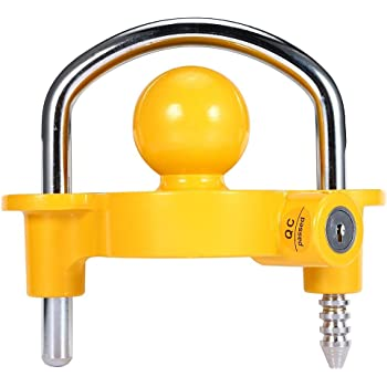 Extra Security for Your Trailer Trailer Lock for 2 Coupler fits Standard Tow Ball Coupling sockets on The Trailer Prevents The Trailer Being Hitched to a Tow Ball Expands and Locks in Place