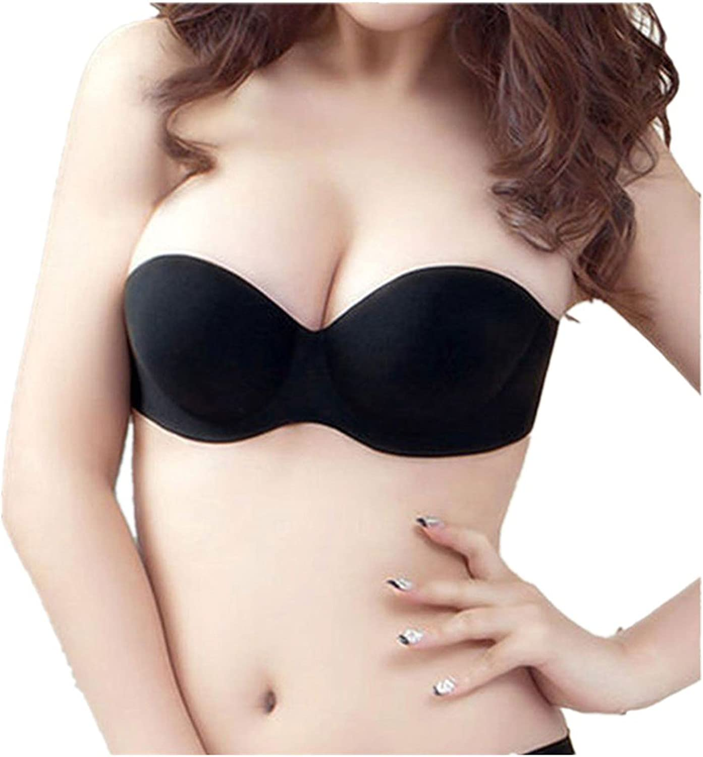 Waterproof Bra  Invisible Strapless PushUp Backless Bra Adhesive Silicone Bra