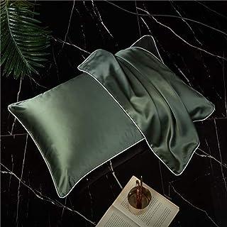 Simple de Memoria Almohada de Seda nórdica Protectora Columna Cervical Almohada (Single Pack) (Color : Green)