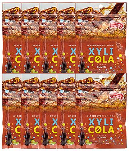 キシリトールグミ キシリコーラ レモンコーラ味 1袋(12粒) × 10袋