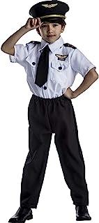 مجموعة أزياء ديلوكس للأطفال من دريس أب أمريكا، أبيض، صغير 4-6 (خصر 31 بوصة، ارتفاع 45 بوصة)