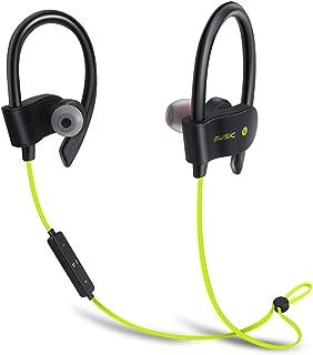 Wiw Wireless Bluetooth Headphones for Running HD Stereo 4.1 Sports Wireless Earphones with Built-in Mic Lemon