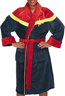 Womens Captain Marvel Dressing Gown Red