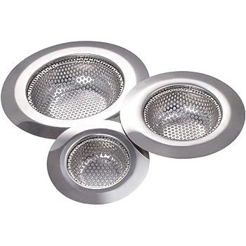 lavabo douche Increway Lot de 3 filtres pour /évier en acier inoxydable pour lavabo