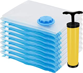 TANTAI_CARE 布団 圧縮袋 ポンプ 8枚組、付き 終身交換承り、防塵防湿 カビ、ダニ対策 敷布団収納可 布団圧縮袋 掃除機対応 収納/引越し/衣替え 真空パック