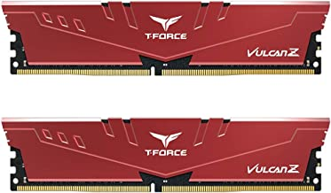 TEAMGROUP T-Force Vulcan Z DDR4 16GB Kit (2 x 8GB) 3200MHz (PC4 25600) CL16 Desktop Memory Module Ram - Red - TLZRD416G320...