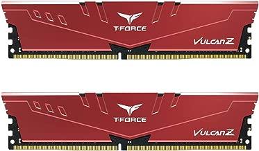 TEAMGROUP T-Force Vulcan Z DDR4 16GB Kit (2 x 8GB) 3000MHz (PC4 24000) CL16 Desktop Memory Module Ram - Red - TLZRD416G3000HC16CDC01