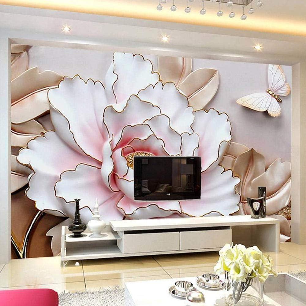 Custom Sale item Wallpaper Canvas Art Wall Mural Flowers Photo 3D V Popular product Murals
