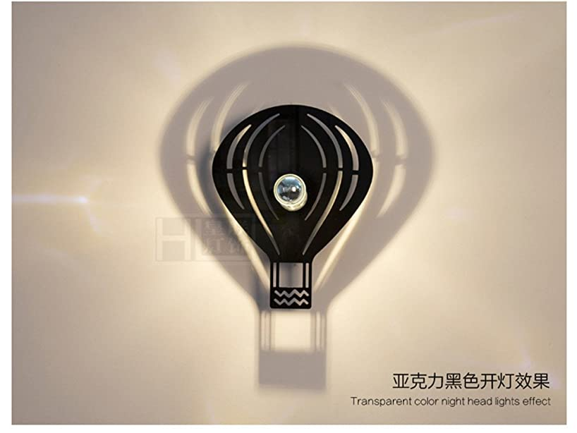LED Wall Lights Wall Sconce Light Fixture Up Down Wall LightingBedside lamp Wall lamp Wall lamp Ideas Boys Bedroom led Wall lamp Warm and Lovely Child Wall lamp Wall Balloon Black (30cm)