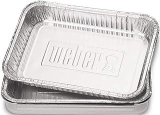 Weber 6415 Aluminiowe Jednorazowe Tacki Ociekowe na Tłuszcz, Srebrny, 10 Sztuk