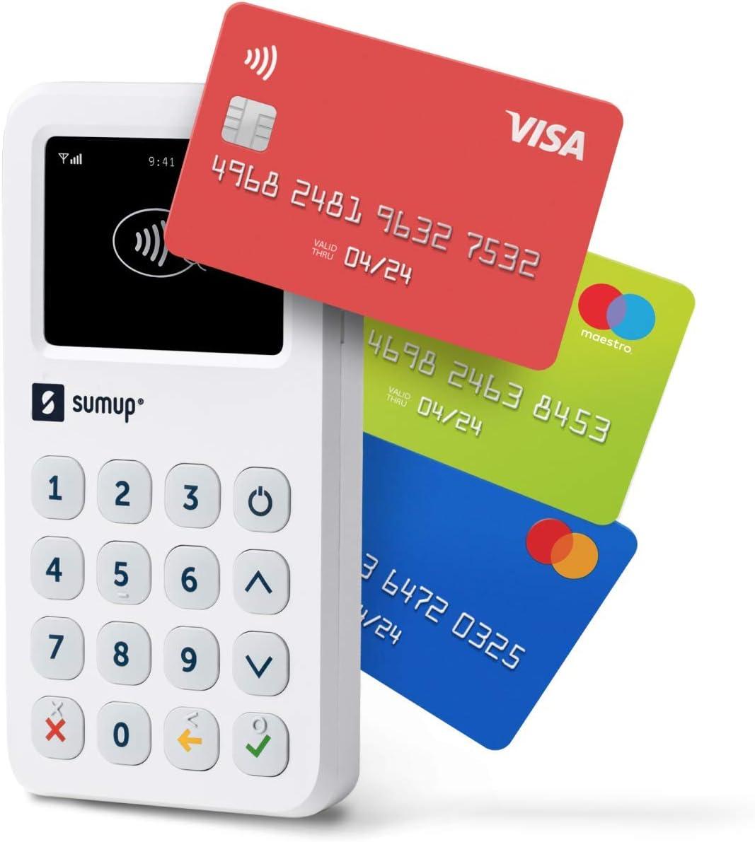 Lector para cobros con tarjeta con wifi y 3G de SumUp: Acepte tarjetas con chip y PIN, pagos contactless, Google Pay y Apple Pay; todo con un dispositivo independiente