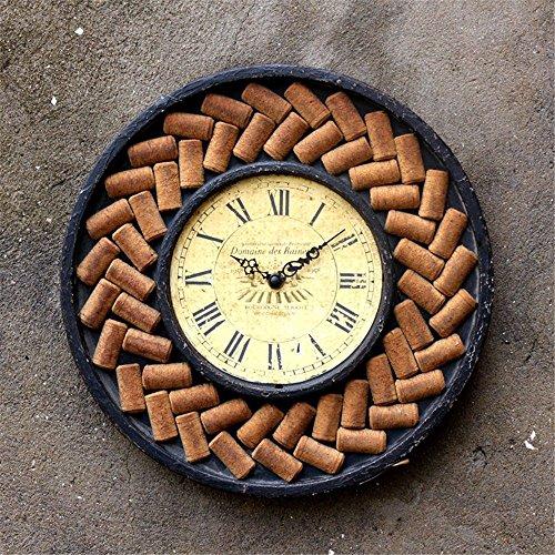 VariousWallClock Wall Clocks Wanduhr Uhren Wecker Uhr Haushalt Pendeluhr Schmiedeeisen Rund Vintage...
