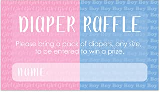 Baby Gender Reveal Diaper Raffle Tickets - Lashes or Staches - 50 Cards
