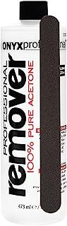 Onyx Professional 16oz 100% Acetone Nail Polish Remover with Nail File Removes Artificial Nails, Nail Polish, Gel Polish and Glitter Polish, 1 Count