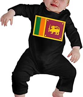 LANBEIZI Sri Lanka Flag 100% Cotton Short Sleeve Jumpsuit for Baby Boys and Girls