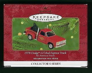 Hallmark Keepsake 1978 Dodge Li'l Red Express Truck 2000 Christmas Ornament