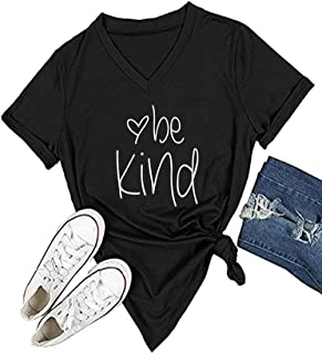 Womens T Shirt Casual Cotton Short Sleeve V-Neck Graphic T-Shirt Tops Tees