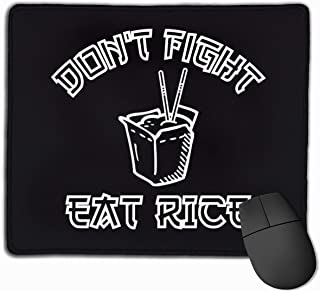 Don't Fight Eat Rice Rectangle Non-Slip Rubber Mousepad Gaming Mouse Pad 25X30cm