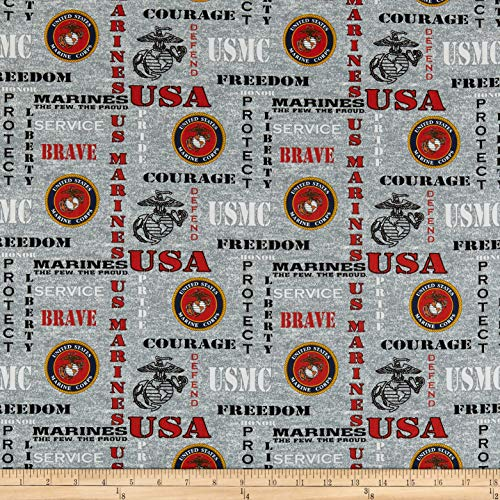 Sykel Enterprises Military Marines Heather Allover Fabric, Multicolor, Fabric By The Yard