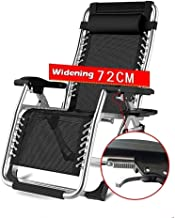 High-quality recliner Zero Gravity Chair Foldable Recliner Chair Deck Chair, Reclining Adjustable Office Patio Balcony Lounger Chair Support 200kg Sun Lounger Sun Lounger (Color : Silver)