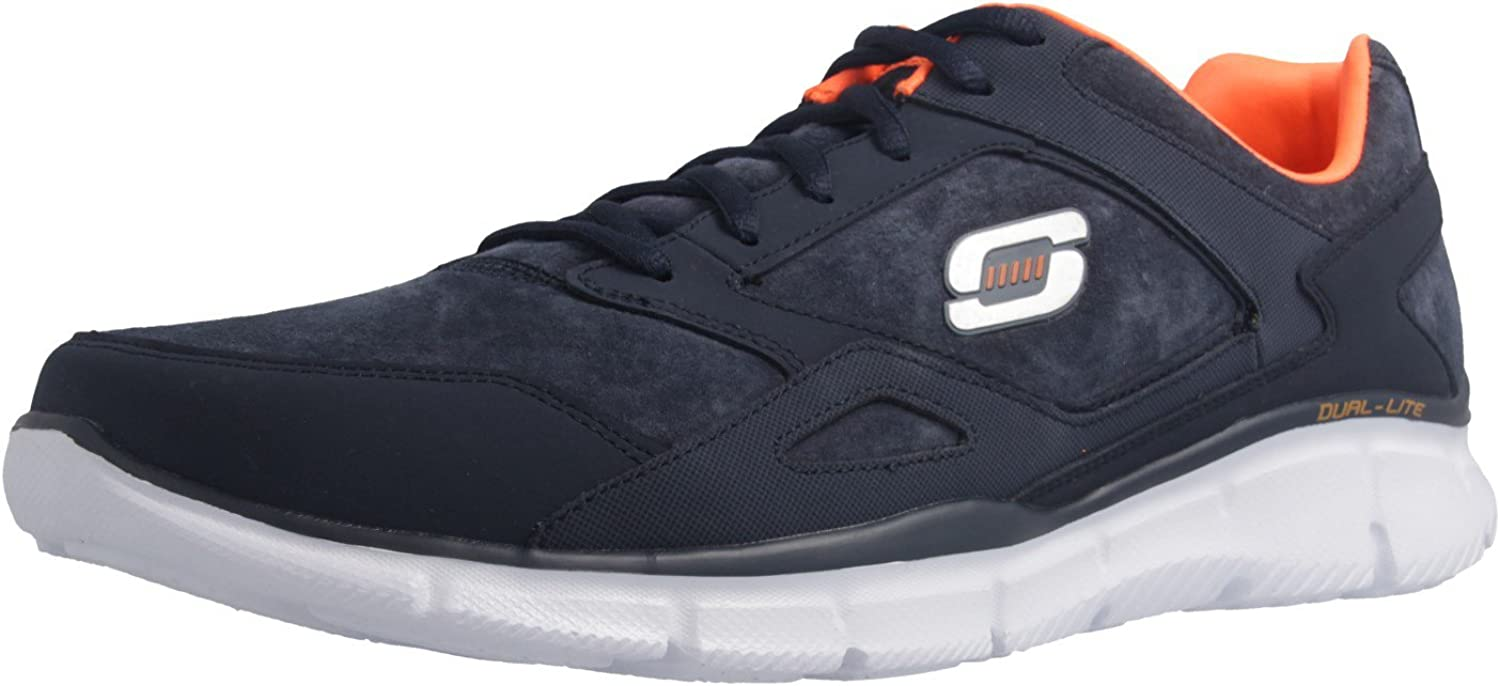 Skechers Mens Navy 'Equalizer Timepiece' Trainers