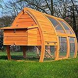 Poulailler en Bois pour Jardin 2/5 Poules 172x76x102 cm-Modele 126 Grande Poule
