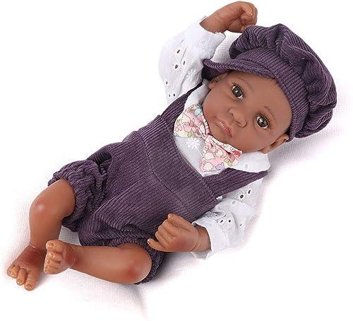 Babypuppen,10 Zoll Mini Reborn Dolls lebensechte afroamerikaner Junge Baby boneca Reborn realistische silikon Baby Puppen Spielzeug für Kinder Geburtstag Geschenke