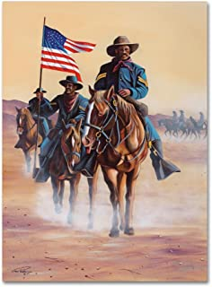 Buffalo Soldiers by Geno Peoples, 18x24-Inch Canvas Wall Art