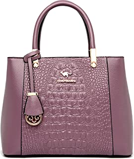 Women's Shoulder Bag Crossbody and for Women Shoulder Bag Leather Strap Purse for Crossbody Vegan (Color : Purple, Size : ...